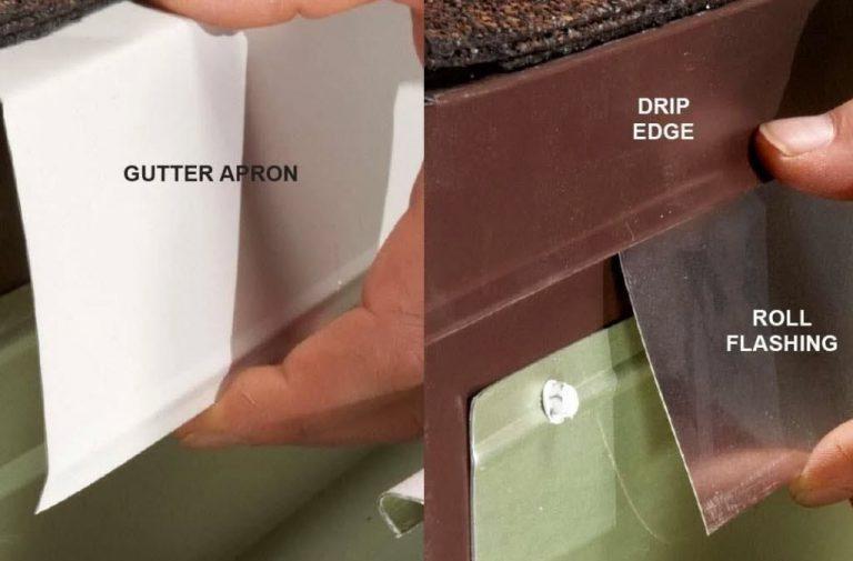 gutter apron vs drip edge