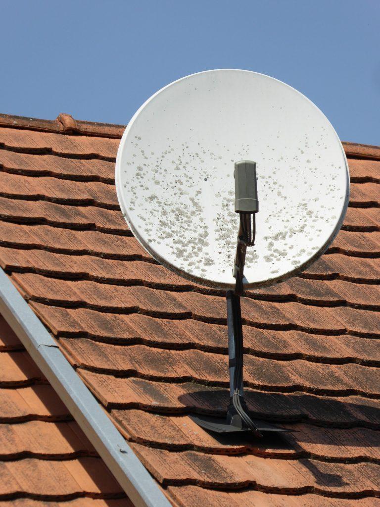 dish network satellite removal