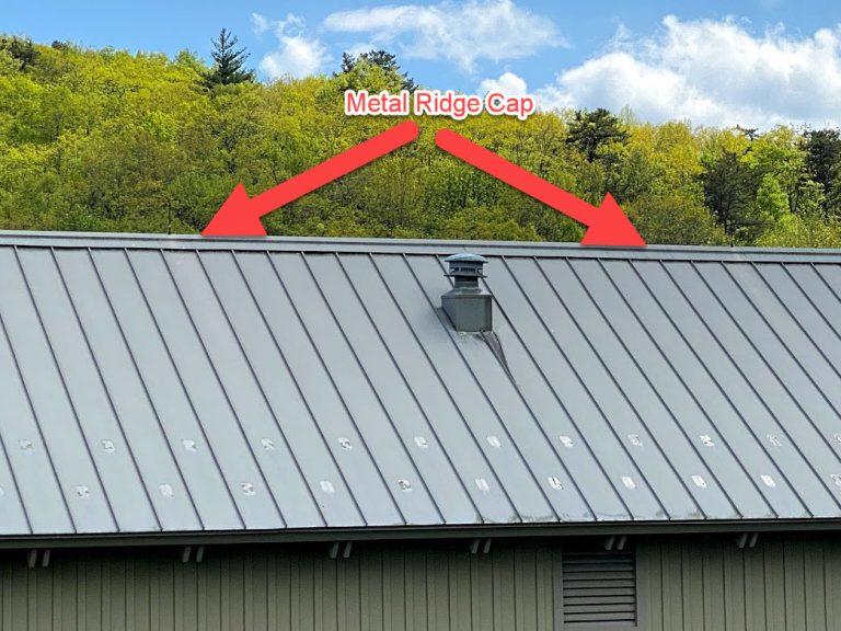 metal ridge cap